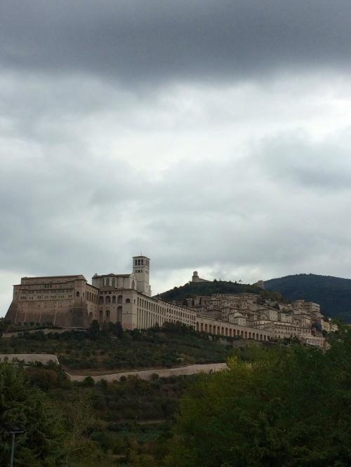 La ville D'Assise vue de Carfagna